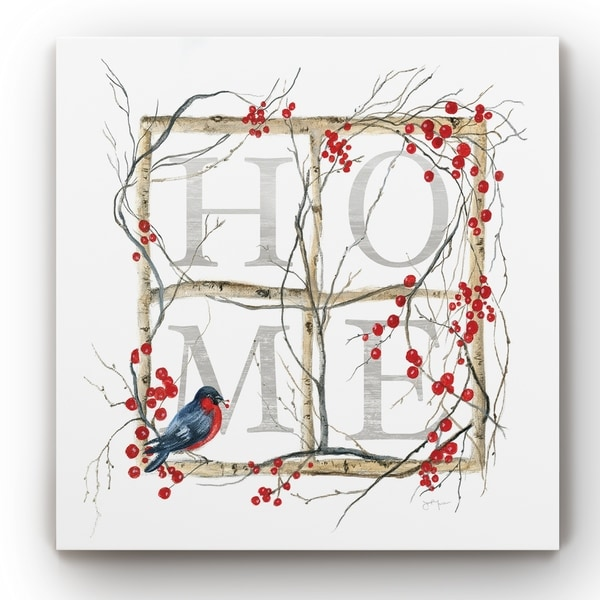 Home Bird Wreath -Gallery Wrapped Canvas
