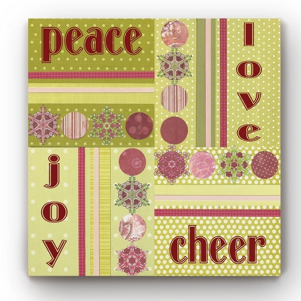PEACE CHEER PATCH -Gallery Wrapped Canvas