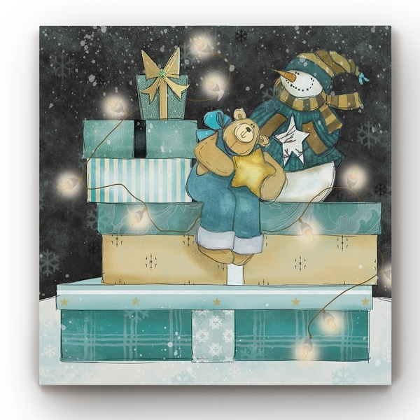 Christmas Presents I -Gallery Wrapped Canvas