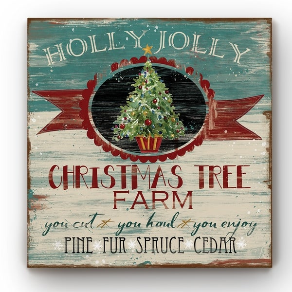 Vintage Ad: Christmas Tree Farm -Gallery Wrapped Canvas