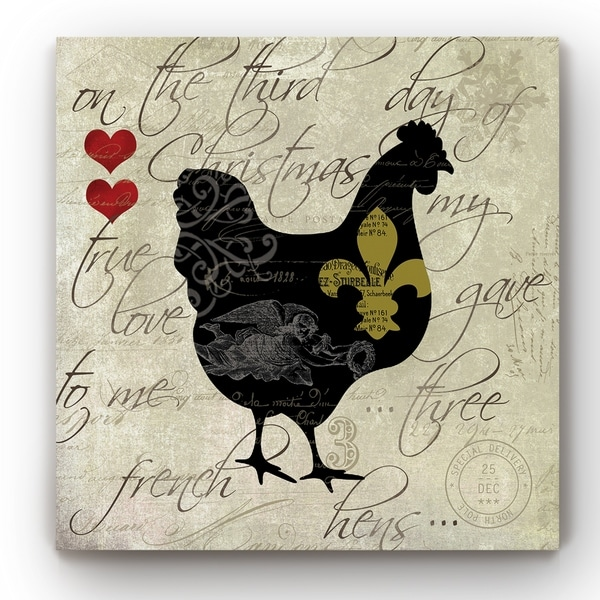 12 Days Hen -Gallery Wrapped Canvas