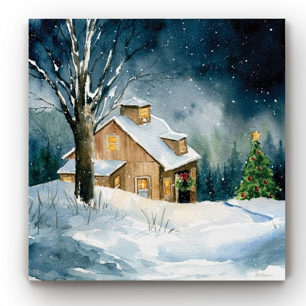 Farmhouse Christmas -Gallery Wrapped Canvas