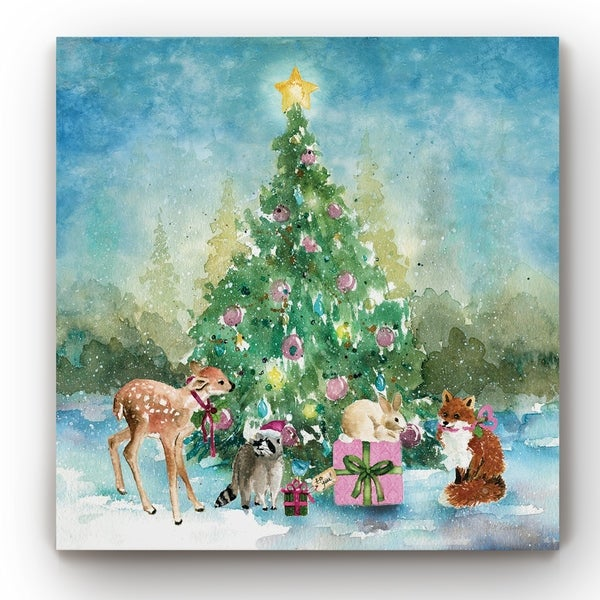Woodland Christmas -Gallery Wrapped Canvas