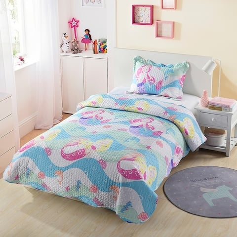 Taylor & Olive Kids Mermaid Bedspread Set