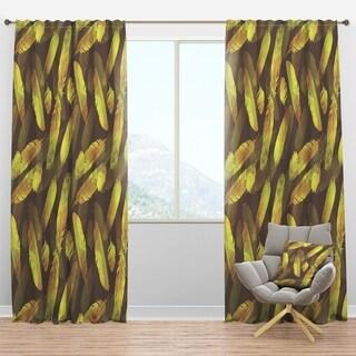 Designart 'Bird Feathers Pattern' Southwestern Curtain Panels