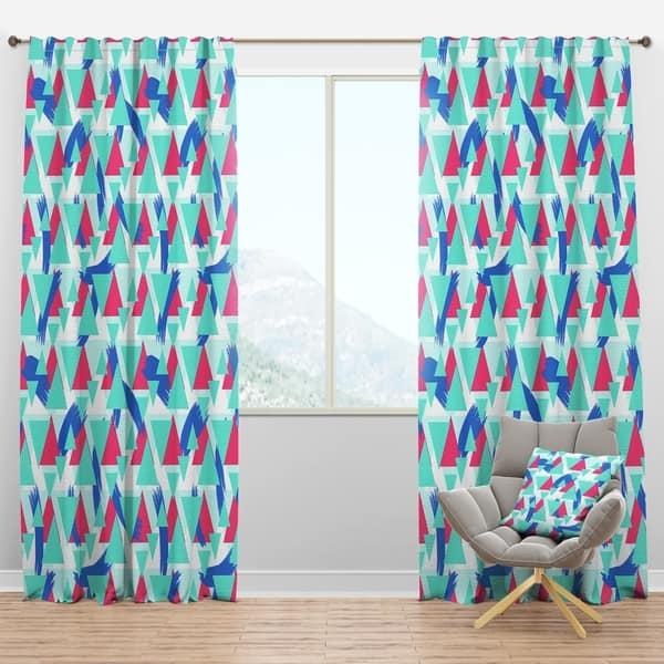 Designart \'Geometric Pattern\' Modern Curtain Panels