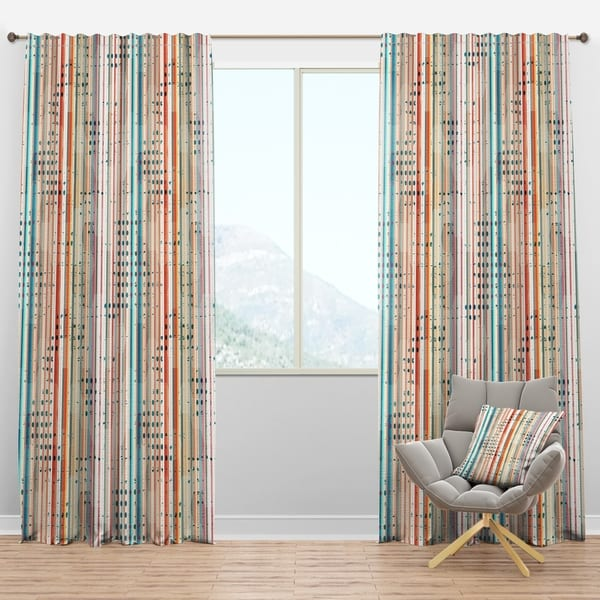 Carson Carrington Tangsatter 'Grunge Line' Modern & Contemporary Curtain 1 Panels - 52 in. wide x 84 in. high (As Is Item)