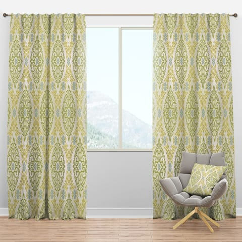 Designart 'Pattern in Eastern Style' Mid-Century Modern Curtain Panel