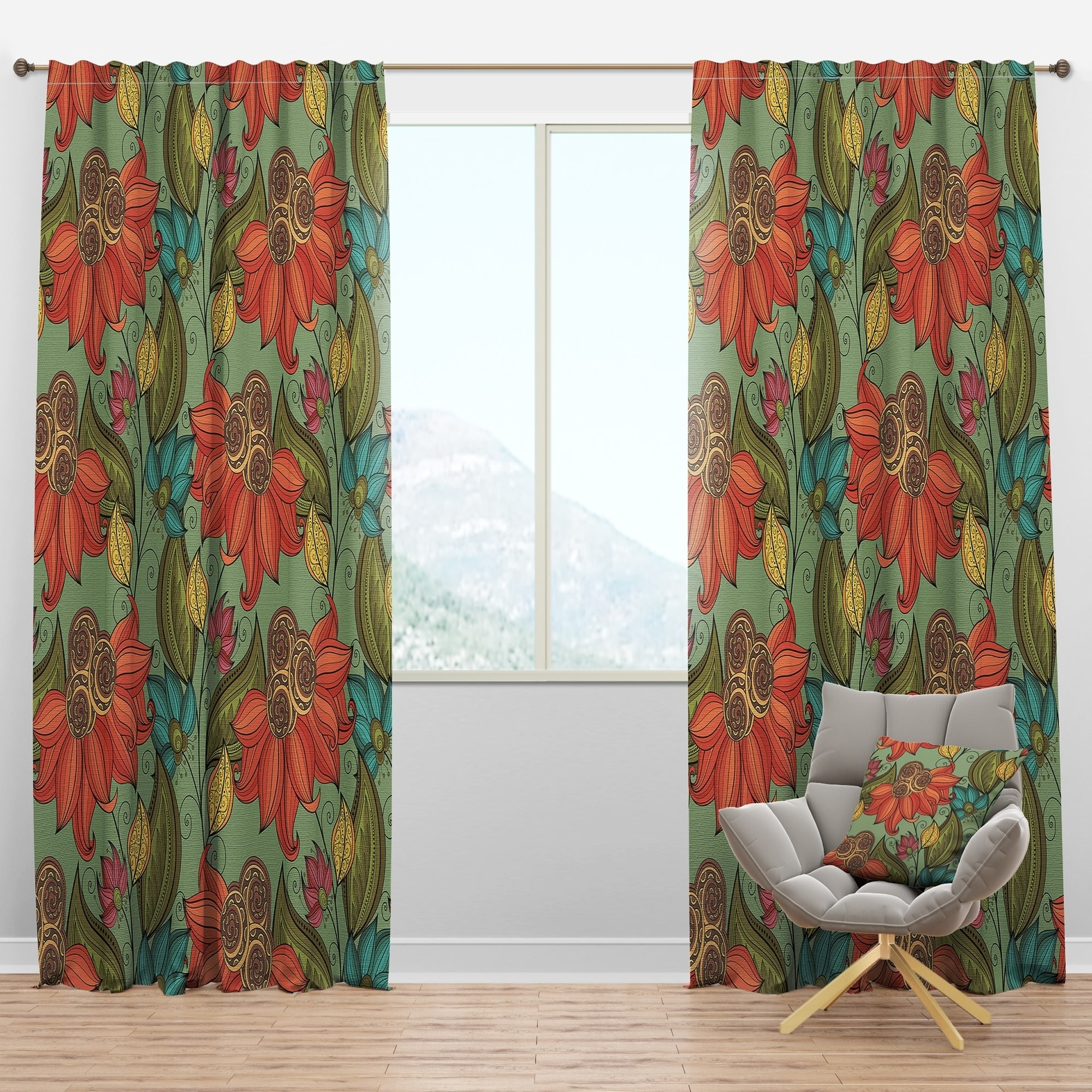 Shop Designart Colorful Floral Pattern Bohemian Eclectic