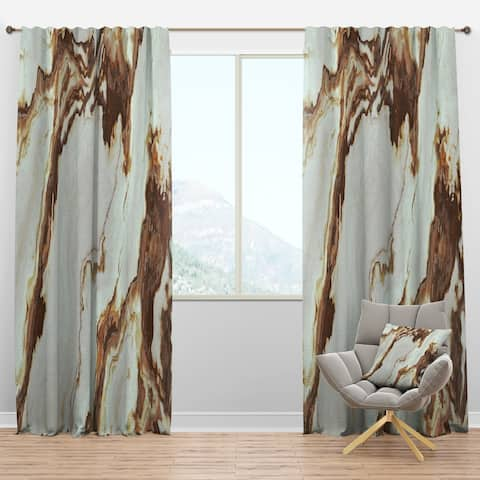 Designart 'Natural Onyx Texture' Mid-Century Modern Curtain Panels