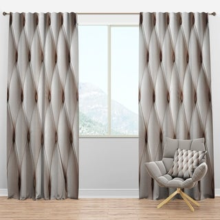 Designart 'Diamond Shaped Leather Couch' Modern & Contemporary Curtain Panels