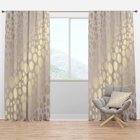 Designart 'Golden Marble Design III' Mid-Century Modern Curtain Panels