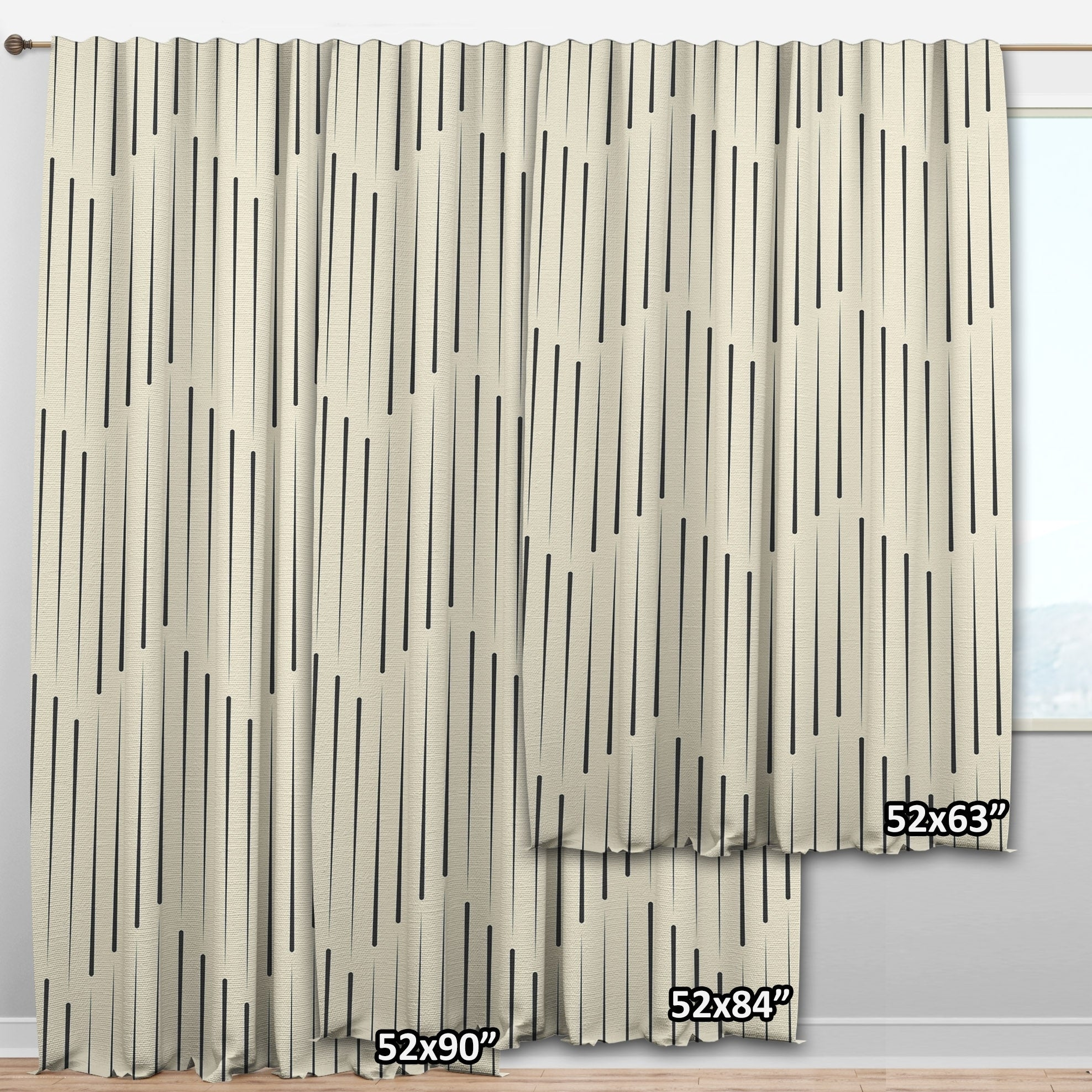 Picture of: Shop Designart Gold And Blue Cubes Mid Century Modern Curtain Panels Overstock 29625868