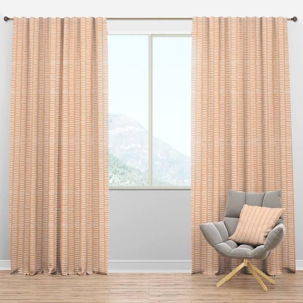 Designart \'Retro Abstract Lines Pattern\' Mid-Century Modern Curtain Panels
