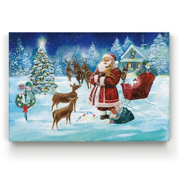 North Pole -Gallery Wrapped Canvas