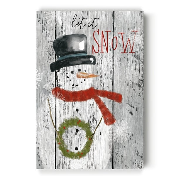 Let It Snow Snowman -Gallery Wrapped Canvas