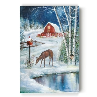 Holiday Skating  -Gallery Wrapped Canvas