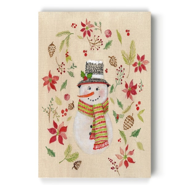 Holly Days Snowlady -Gallery Wrapped Canvas