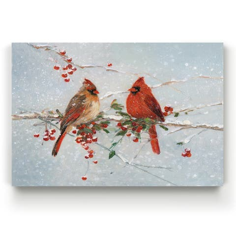 Cardinals In Winter -Gallery Wrapped Canvas