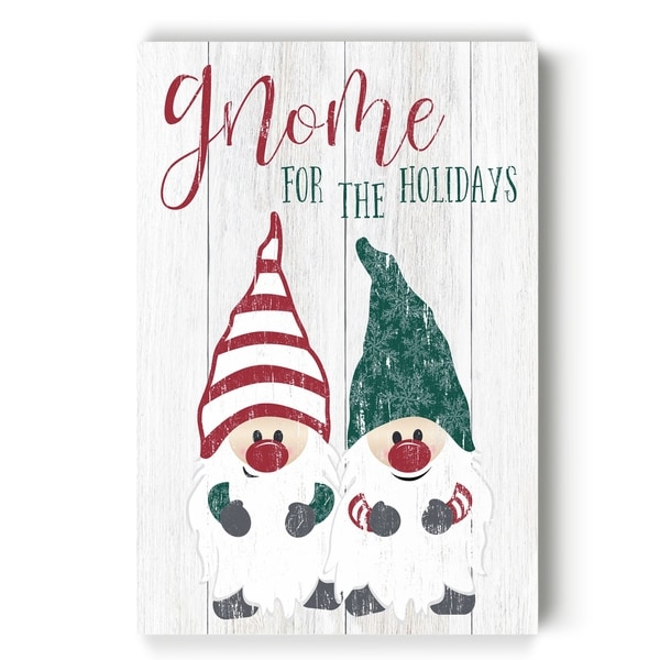 Gnome For The Holidays -Gallery Wrapped Canvas