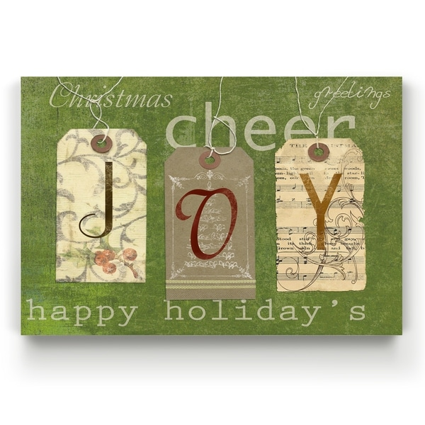 Joy Tags -Gallery Wrapped Canvas