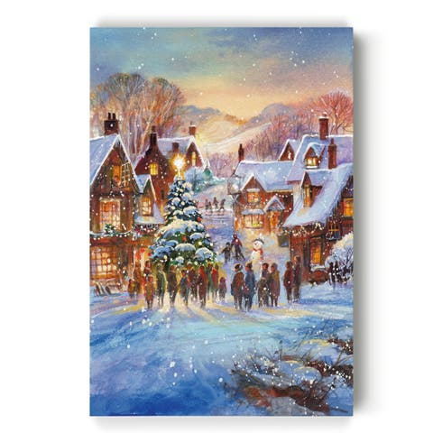 Snow Village -Gallery Wrapped Canvas