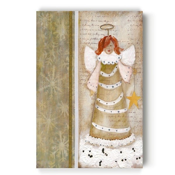 Cloud Angel w/Star -Gallery Wrapped Canvas