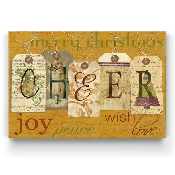 Cheer Tags -Gallery Wrapped Canvas