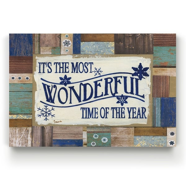 Most Wonderful Time -Gallery Wrapped Canvas