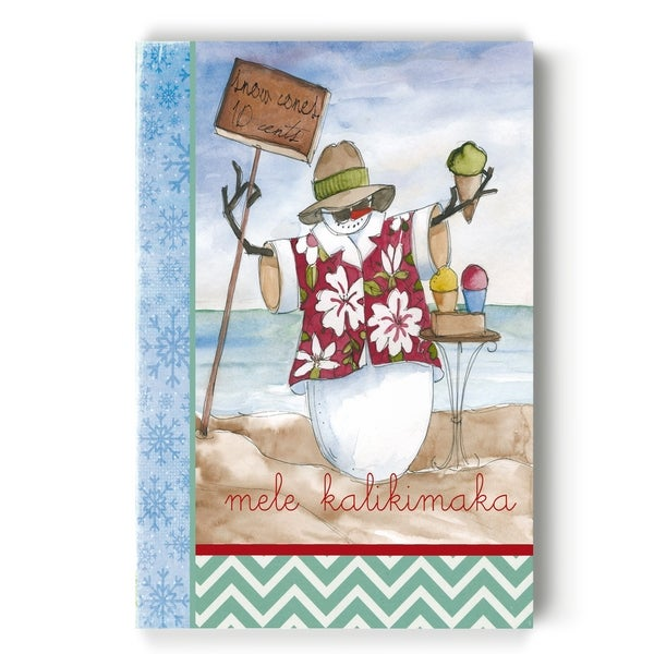 SNOWMAN BEACH -Gallery Wrapped Canvas