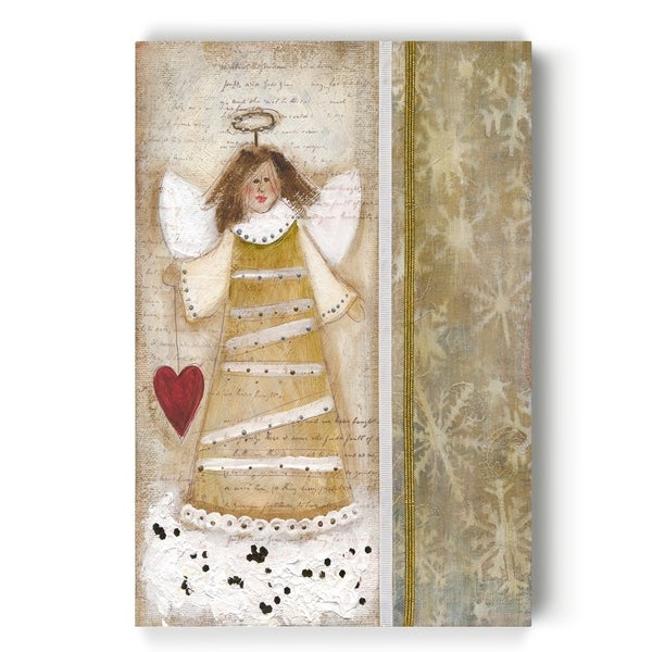 Cloud Angel w/ Heart -Gallery Wrapped Canvas