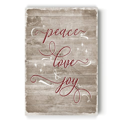 Peace Love Joy -Gallery Wrapped Canvas