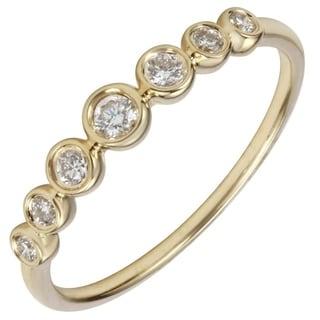 14k Yellow Gold ECOMARK Created Diamond Layer Ring 1 5 Cttw E F Color VS2 SI1 Clarity