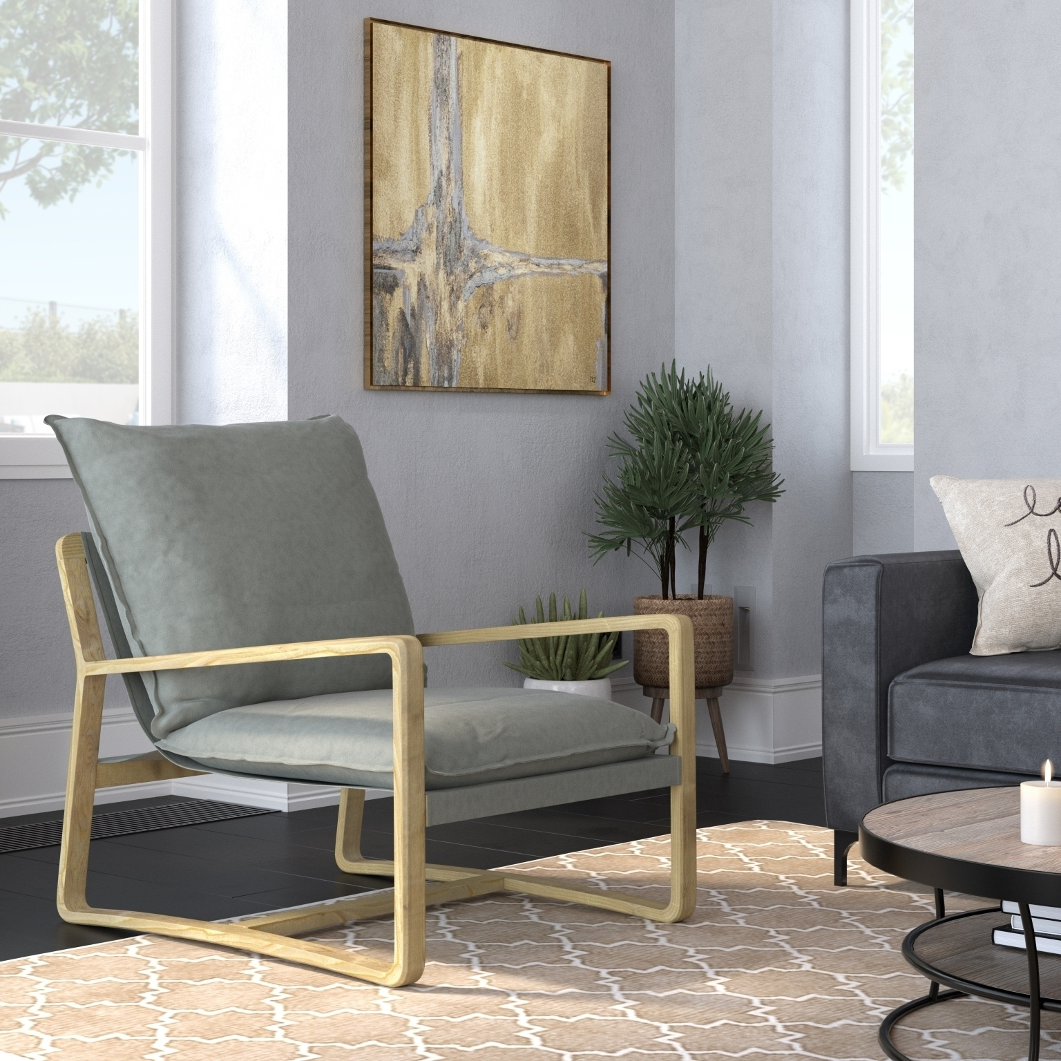 Amarantos Modern Accent Chair Living Room Lounge Chair Sofa Overstock 29626708