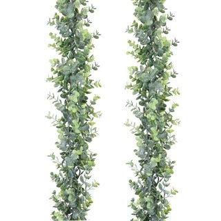 2 Pack Artificial Vines Hanging Eucalyptus Leaves