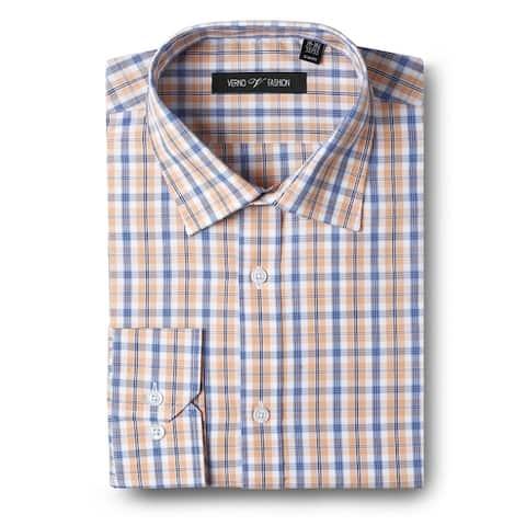 Men's Slim Fit Long Sleeve Check Shirts