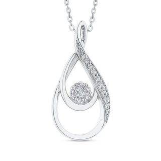 10K White Gold 1 8ct TDW Diamond Fashion Pendant I J I1