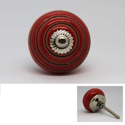 Striped Round Knob