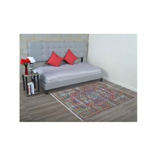 Traditional Crossweave Oriental Carpet Turkish Over Dyed Area Rug