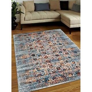 Modern Heatset Over Dyed Area Rug Turkish Abstract Oriental Carpet