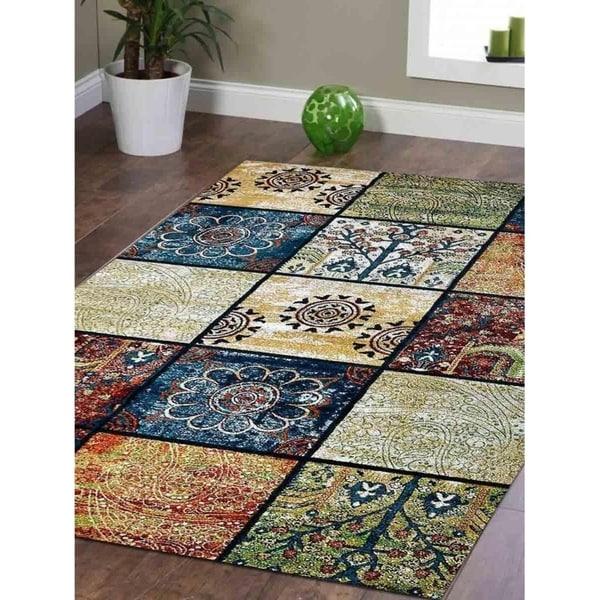 Patchwork Heatset Modern Carpet Turkish Oriental Over Dyed Area Rug