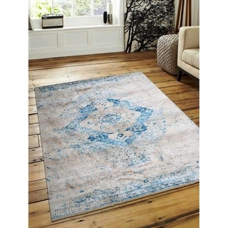 Over Dyed Traditional Oriental Carpet Turkish Crossweave Area Rug