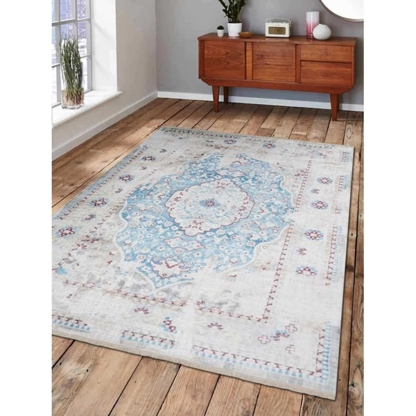 Traditional Oriental Crossweave Area Rug Turkish Over Dyed Carpet