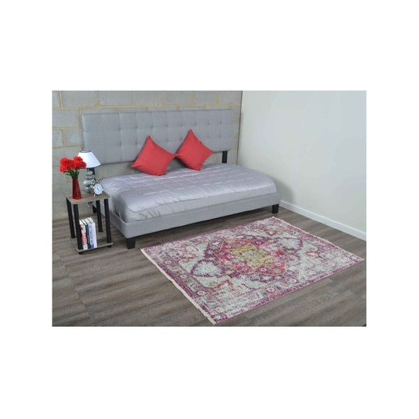 Traditional Crossweave Oriental Area Rug Carpet Turkish Over Dyed