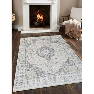 Turkish Traditional Oriental Crossweave Carpet Over Dyed Area Rug