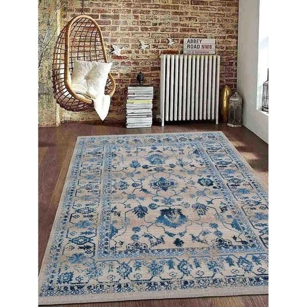 Crossweave Traditional Over Dyed Oriental Turkish Disstressed Area Rug