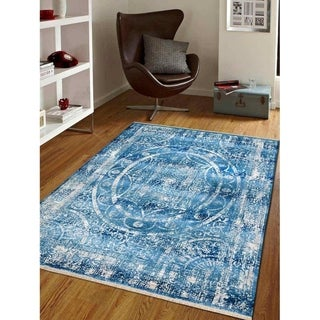 Crossweave Traditional Oriental Disstressed Turkish Over Dyed Area Rug