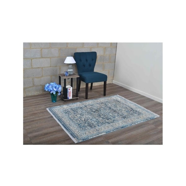 Disstressed Traditional Oriental Area Rug Crossweave Turkish Over Dyed