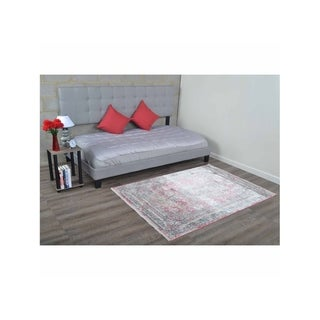Over Dyed Traditional Oriental Crossweave Turkish Disstressed Area Rug