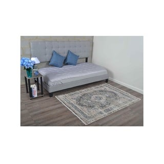 Traditional Over Dyed Crossweave Oriental Turkish Medallion Area Rug